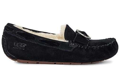 UGG - Mocasines de Piel para Mujer, Color Negro, Talla 39 EU: Amazon.es: Zapatos y complementos