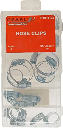 Pack of 10 Pearl PSHC10 Hose Clip 2X Stainless Steel