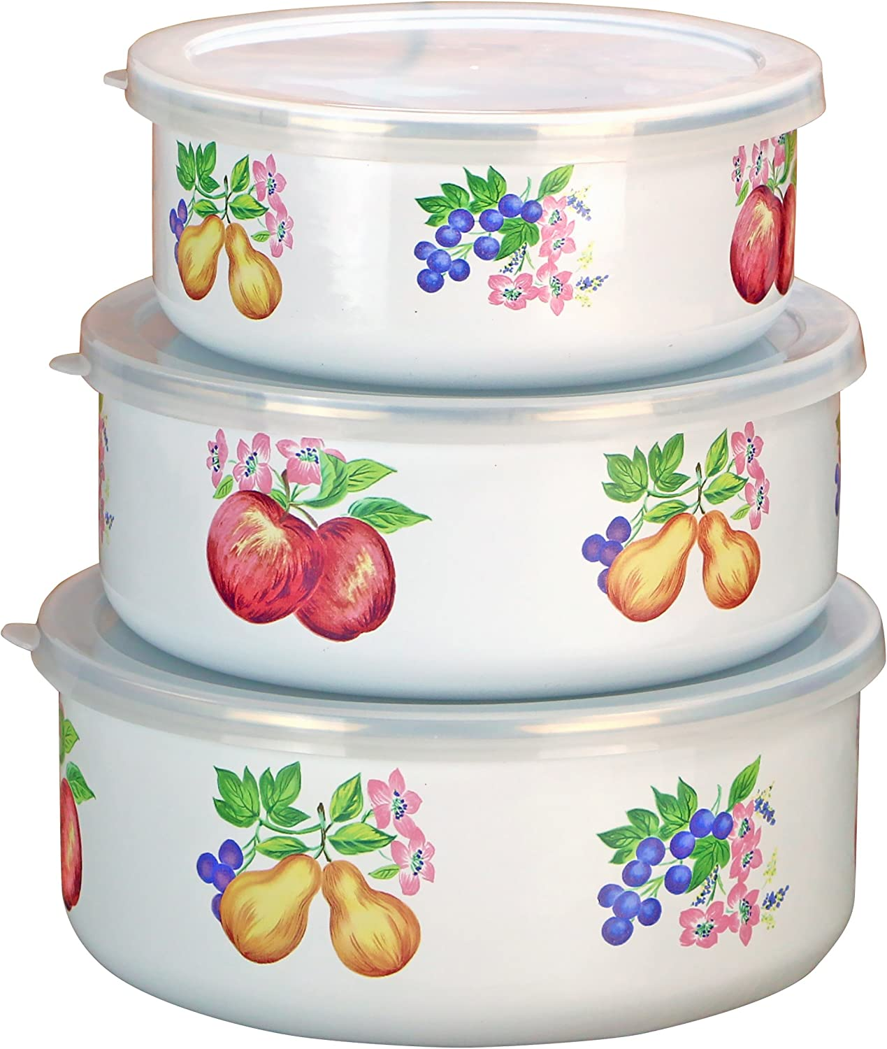 Corelle Coordinates by Reston Lloyd 6-Piece Enamel on Steel Bowl/Storage Set, Chutney