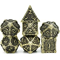 cusdie Metal Dice with Metal Box, 7 PCs DND Metal Dice, Dagger Design Polyhedral Dice Set, for Role Playing Game D&D…