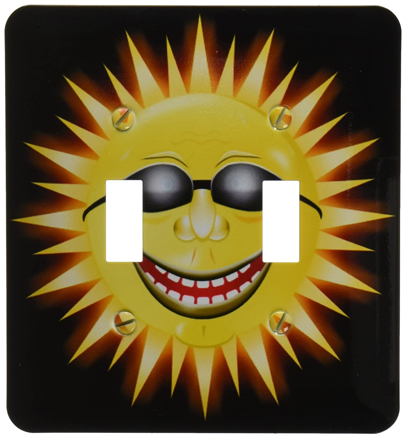 3drose Lsp 18159 2 Smiling Sunshine A Happy Sunny Face Wearing Sunglasses With A Smile Double Toggle Switch Amazon In Home Kitchen