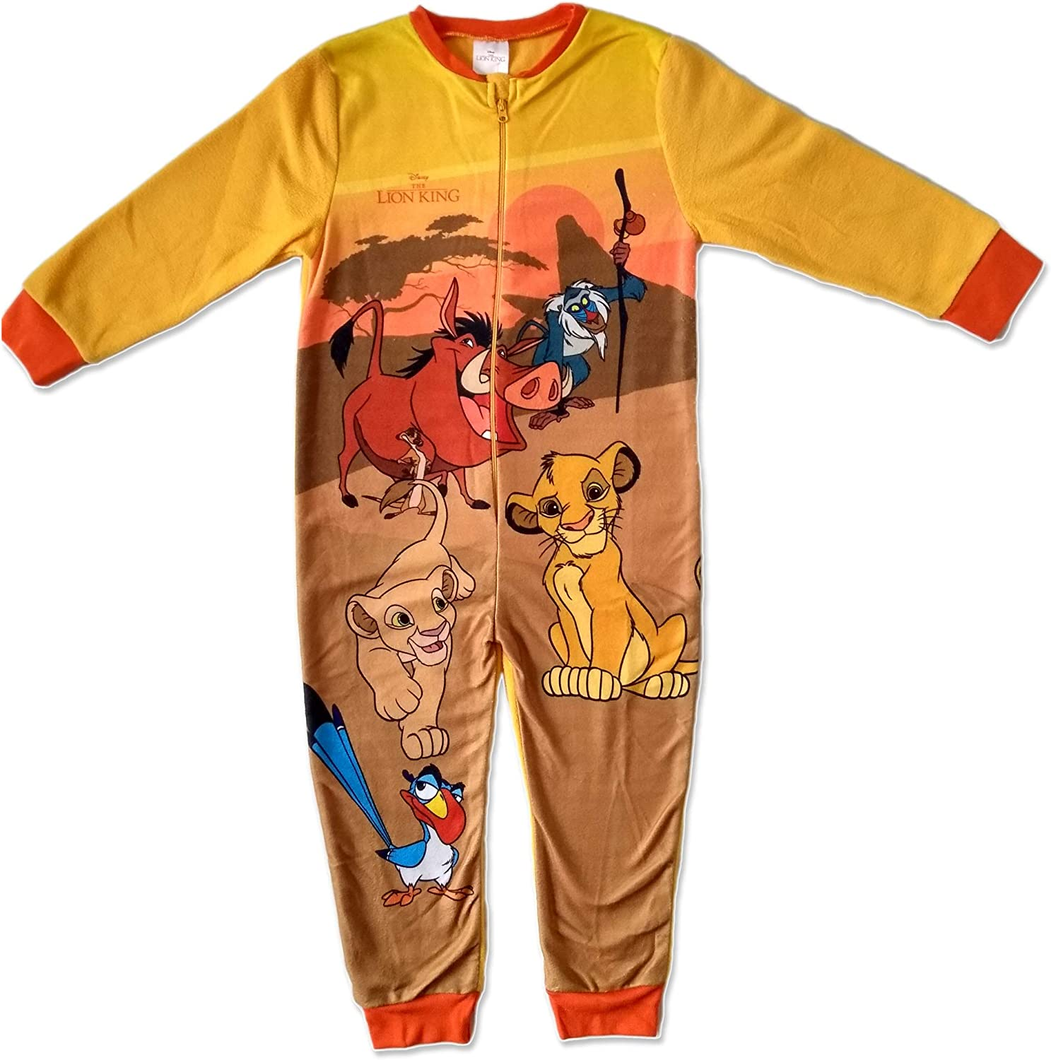 Boys Lion King Fleece Onesie Sleepsuit