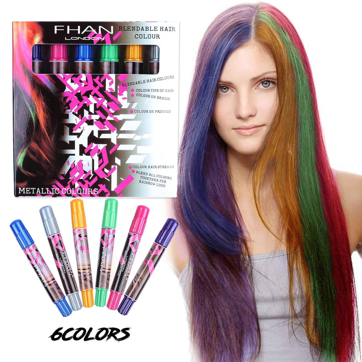 Girl Hair Chalk Set - XIAO MO GU Temporary Hair Color for Kids ...