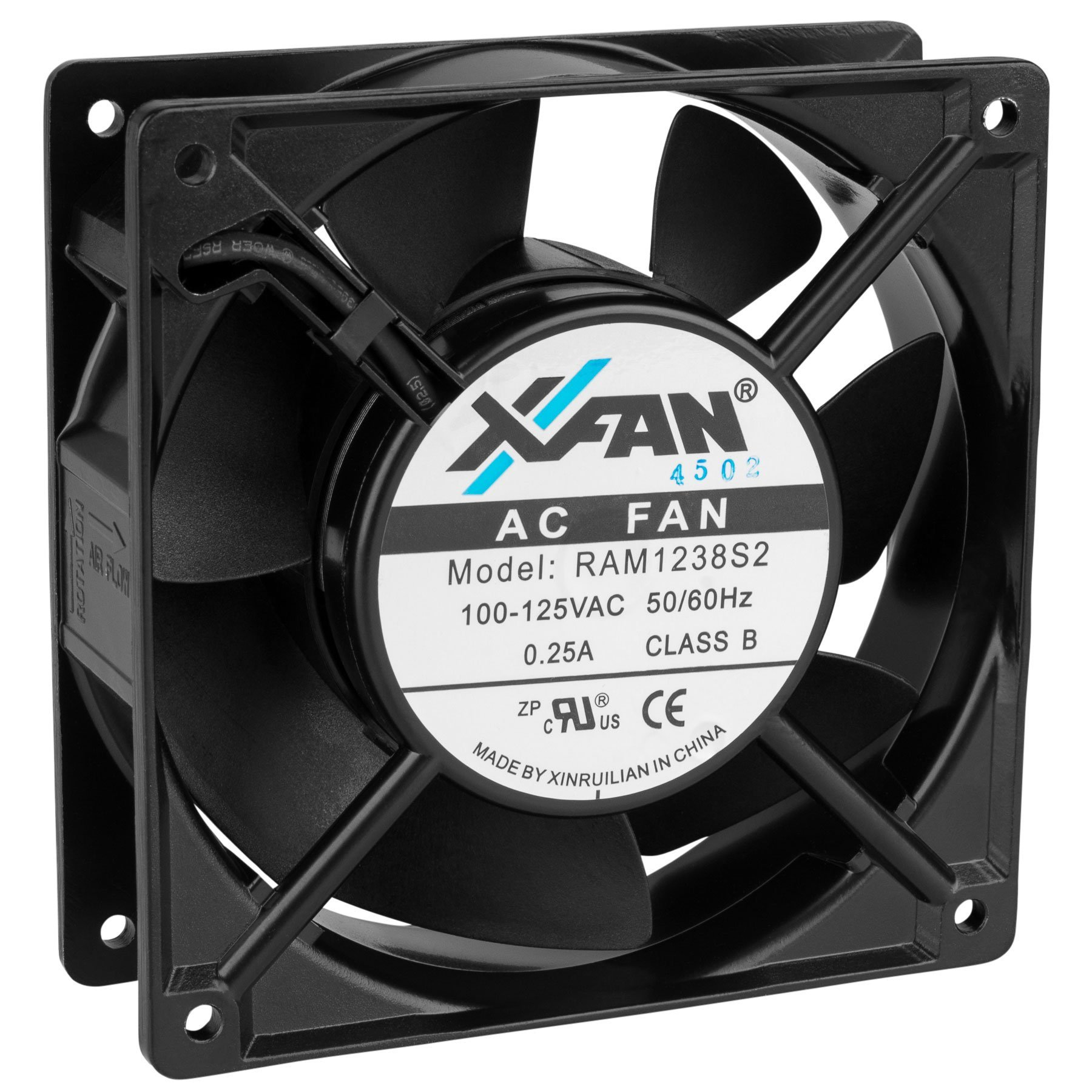 Parts Express Muffin Cooling Fan 100-125 VAC 77/86 CFM 4-5/8'' x 1-1/2'' RAM1238S2