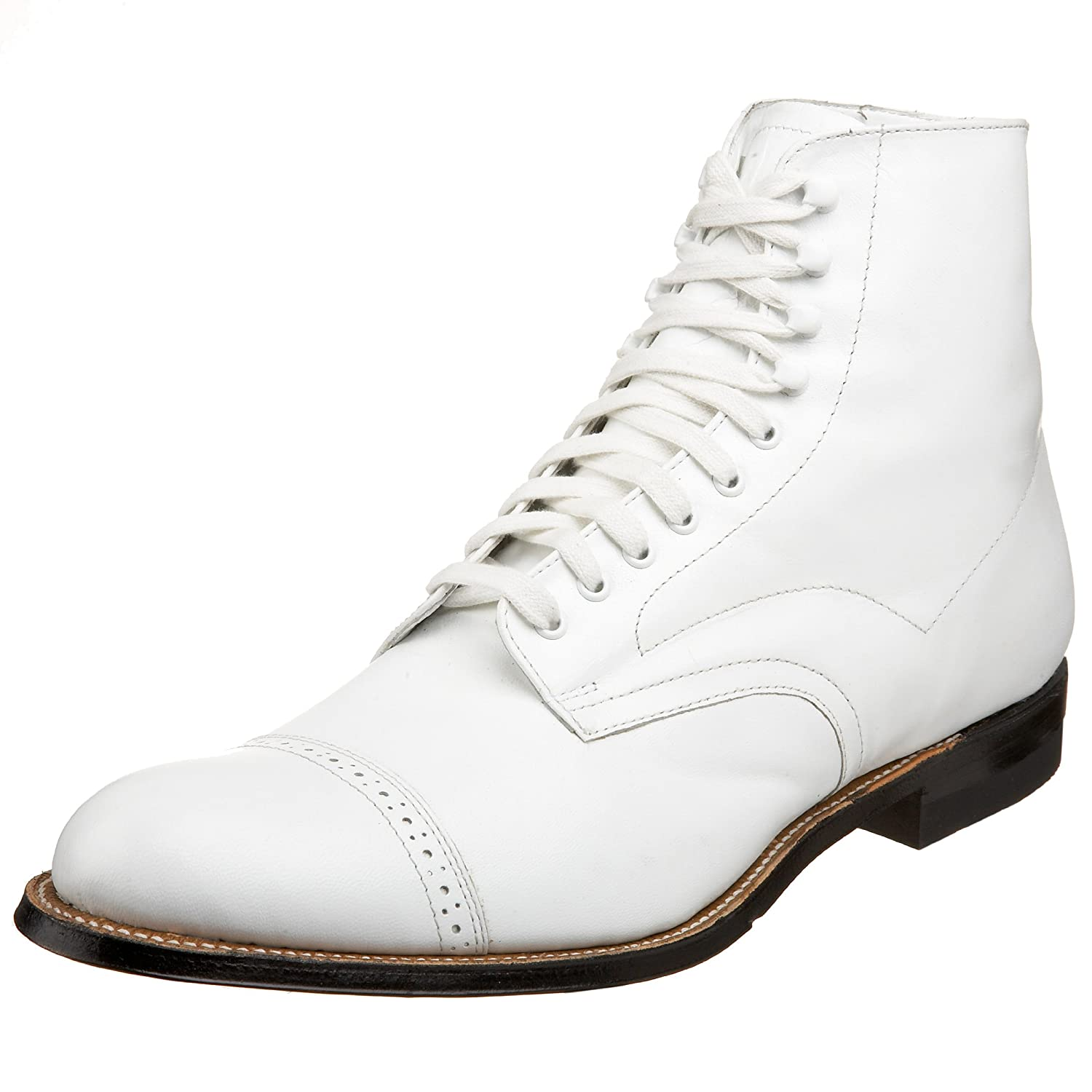 Edwardian Men's Shoes & Boots | 1900, 1910s Stacy Adams Mens Madison Boot $135.00 AT vintagedancer.com