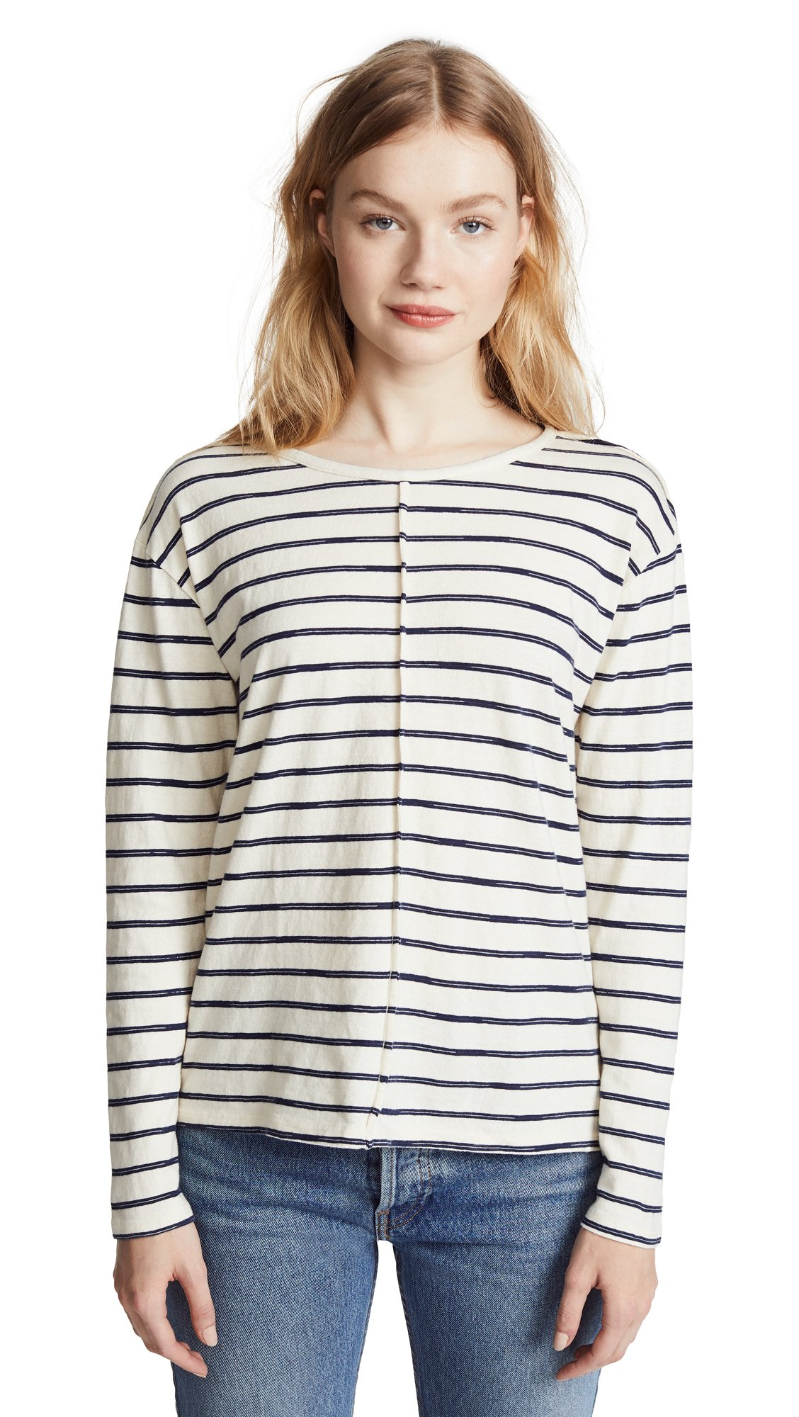 J Brand Women's Remy Tee, Catalina Stripe, Small