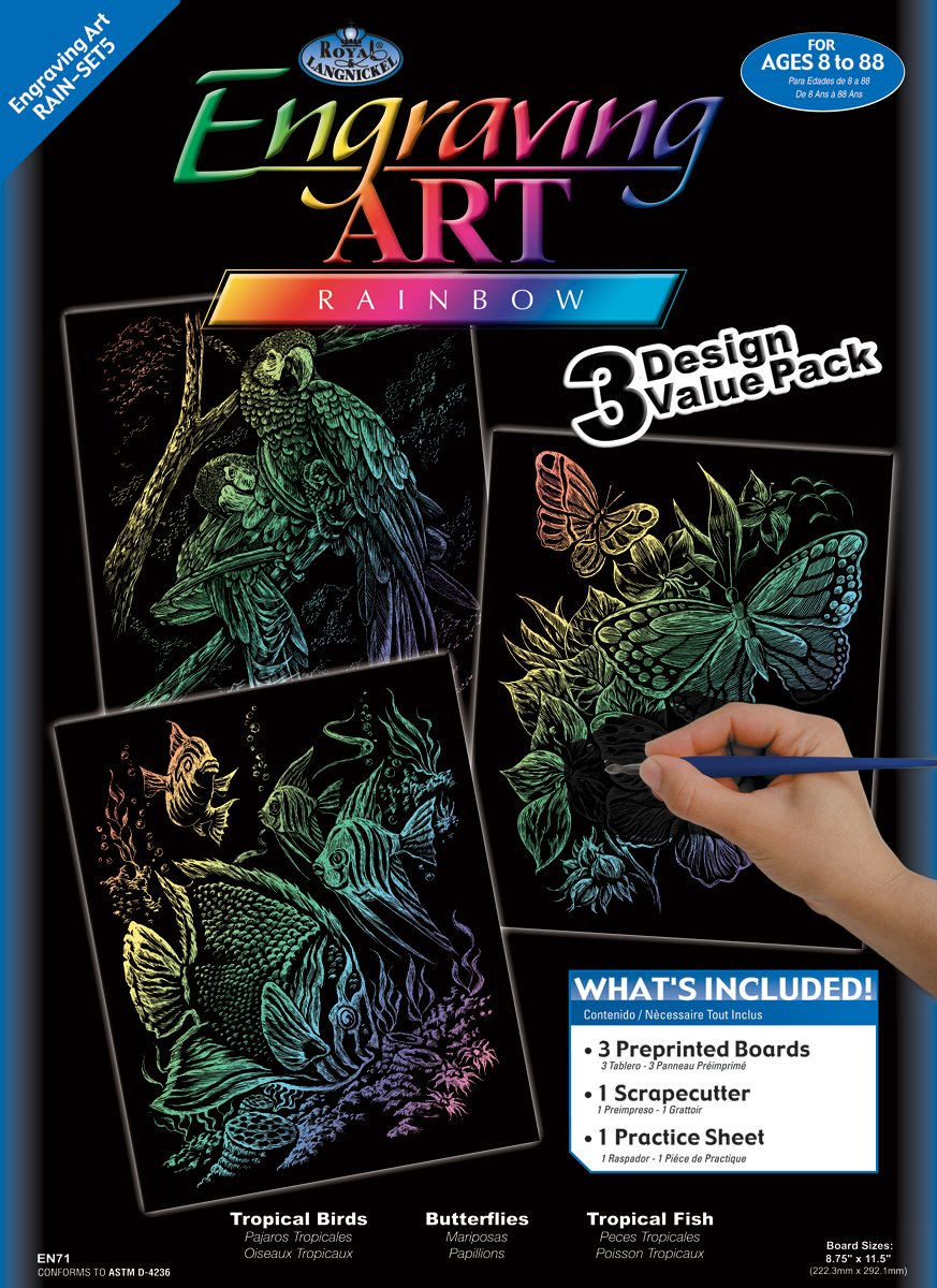 Royal and Langnickel Engraving Art 3 Design Value Pack, Rainbow by Royal & Langnickel B0031SLZOS