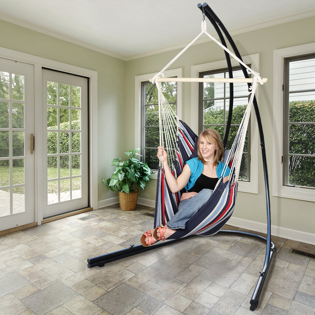 Amazon.com : Sorbus Hammock Chair Stand for Hanging Chairs, Swings ...