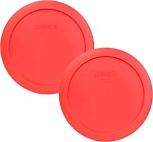 Pyrex 7201-PC Round 4 Cup Storage Lid for Glass Bowls (2, Red)