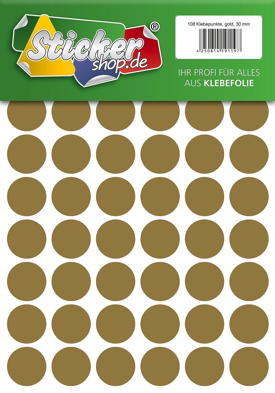 wetterfest 5 mm, wei/ß Klebepunkte aus PVC Folie Markierungspunkte Kreise Punkte Aufkleber