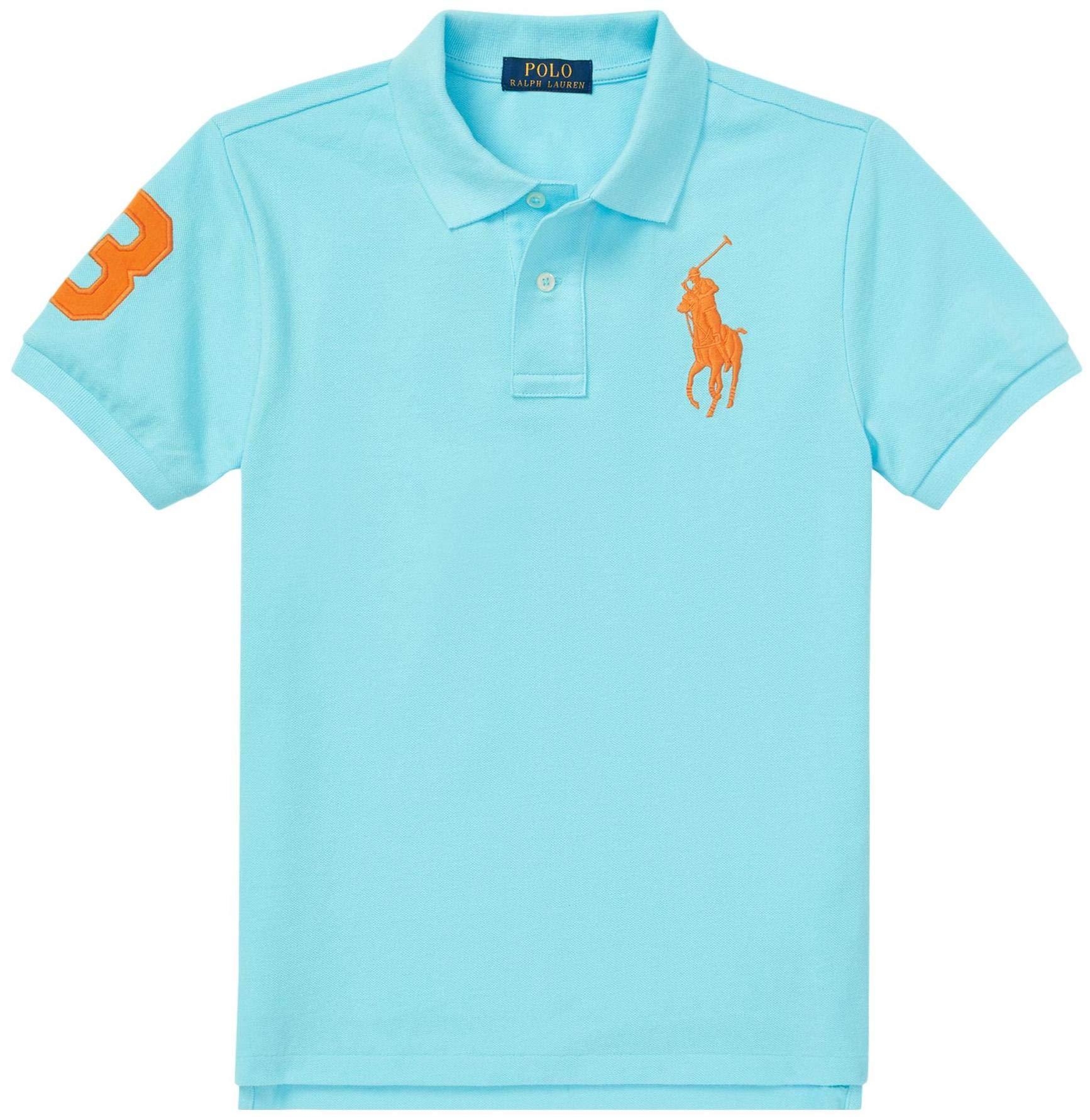 Polo Ralph Lauren Boys Big Pony Mesh Polo Shirt (L (14-16), HammBlue)