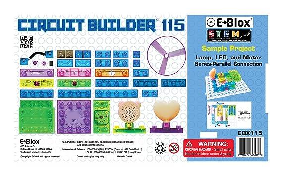 Amazon.com: E-Blox Circuit Builder 115 Building Set: Toys & Games