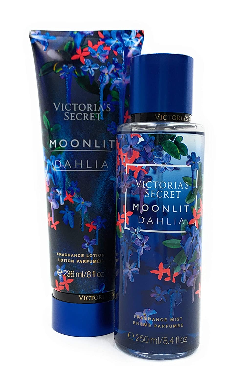 Victoria's Secret Moonlit Dahlia Fragrance Mist Body Spray and Lotion Limited Edition Set