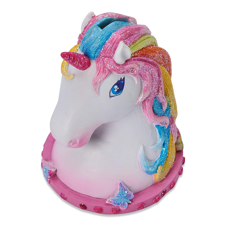 Wobbly Jelly Magical Unicorn Money Box for Children Glittery Hand Painted Kids Unicorn Piggy Bank