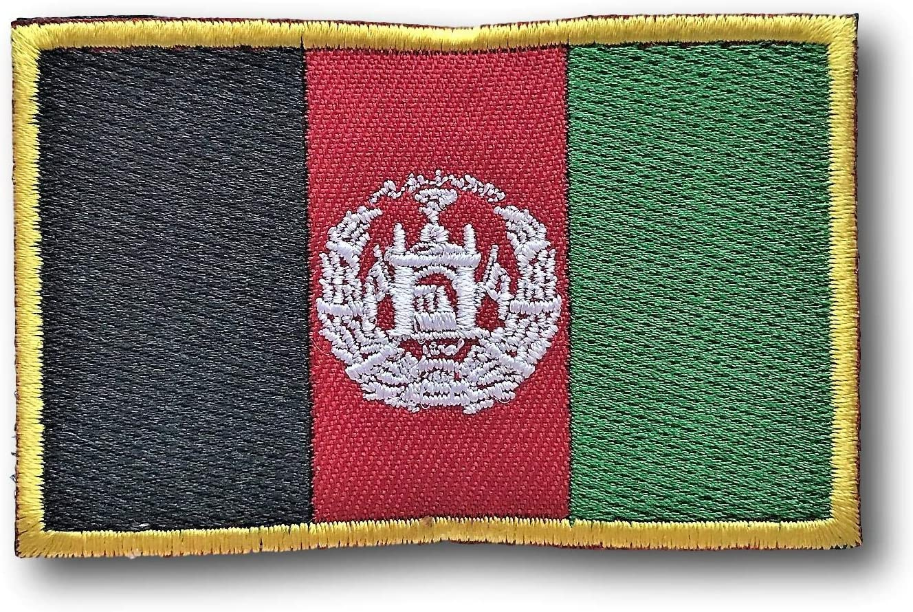 ANGOLA FLAG PATCH AFRICAN EMBROIDERED SOUVENIR AFRICA w// VELCRO® Brand Fastener