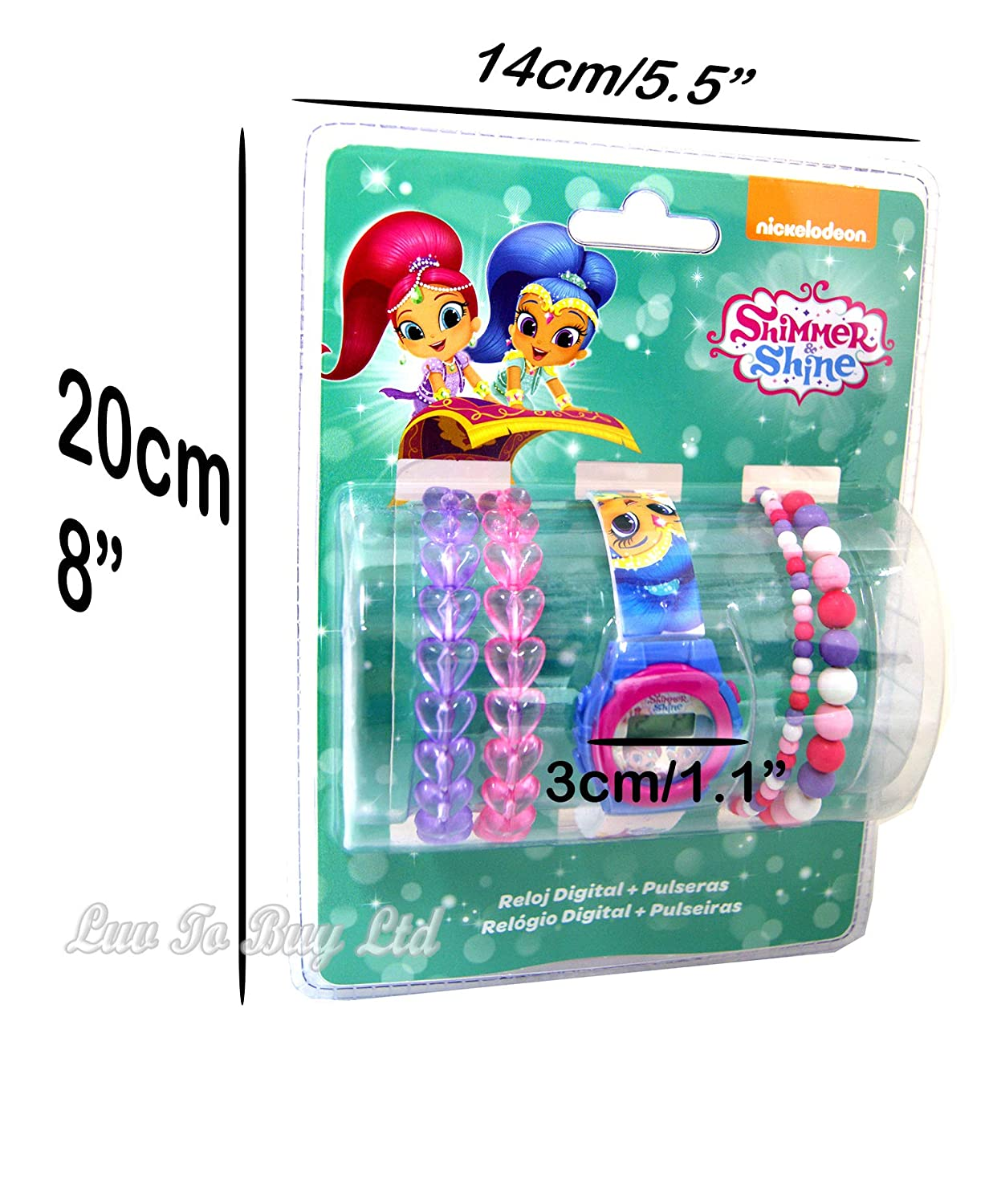 Amazon.com: Shimmer&Shine Digital Watch& Bracelets,Gift Set Official Licensed .: Toys & Games