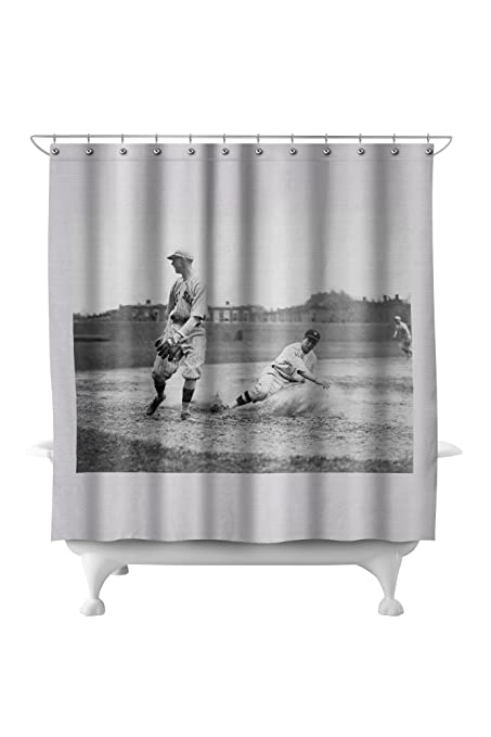 Image Unavailable Not Available For Color Washington Player And Boston Red Sox Baseball Photograph 71x74 Polyester Shower Curtain
