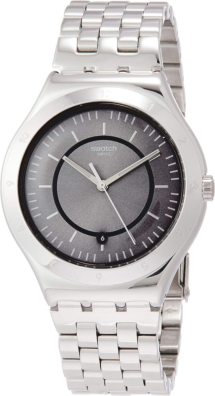 Swatch Reloj Analógico para Hombre de Cuarzo con Correa en Acero Inoxidable YWS432G