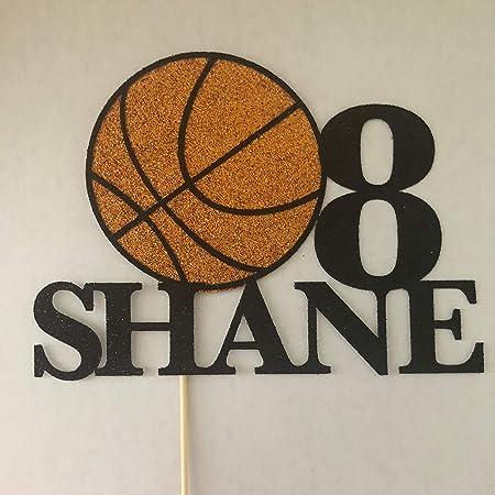 Decoración para tarta de cumpleaños de baloncesto, decoración para ...