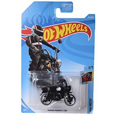 Hot Wheels Moto Series 3/5 Honda Monkey Z50 115/250, Black: Toys & Games
