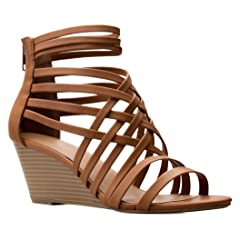 fce2e0b7e OLIVIA K Women s Strappy Woven Wedge Sandals - Sexy Open Toe Heel -  Comfort