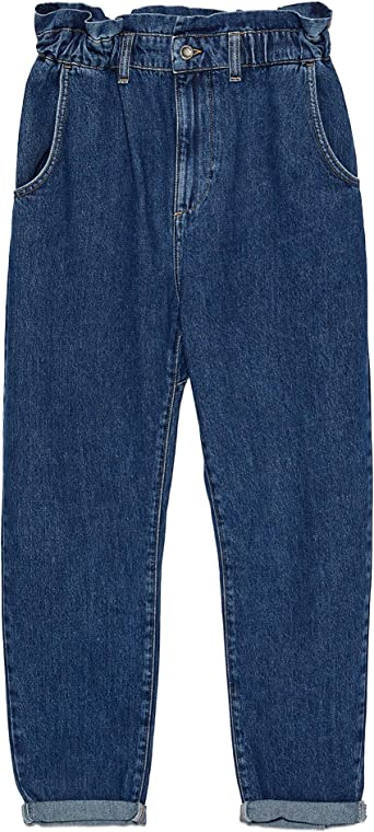 ZARA 5862/154/407 - Pantalones vaqueros para mujer azul 44 EU ...