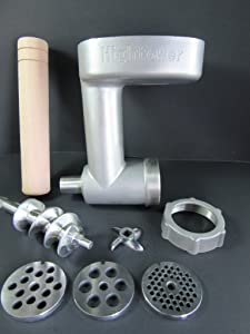 Professional Grade Stainless Steel Meat Grinder Food Chopper for Kitchenaid Mixer. Dishwasher Safe