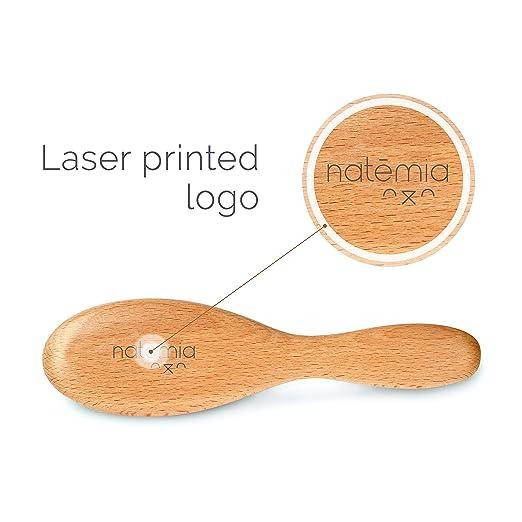 Amazon.com: Natemia - Cepillo de madera para el pelo de bebé ...