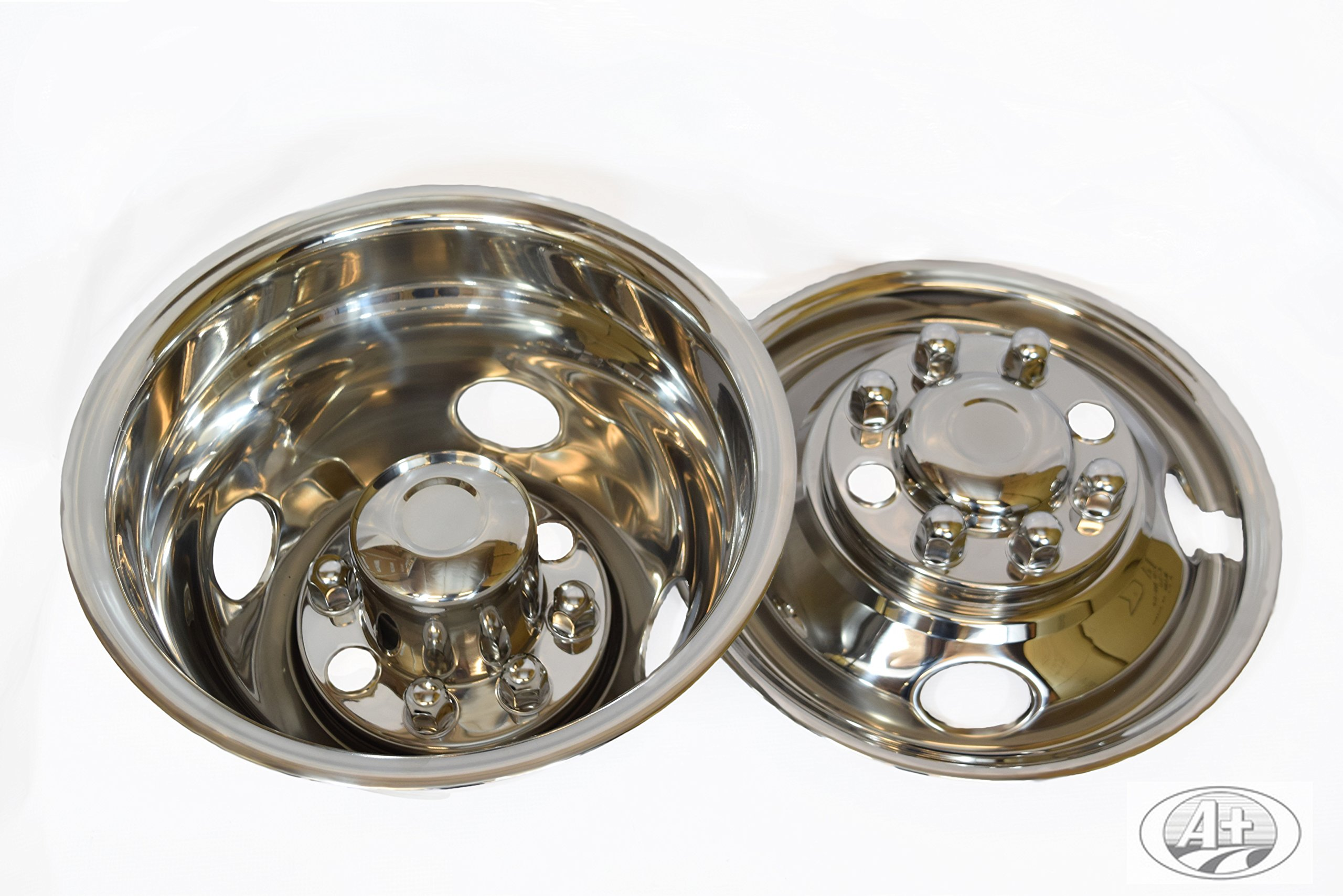 """16"""" GMC 3500 01~07 Stainless Steel Wheel Simulator Dually rim liner skin by A+ (Image #1)"""