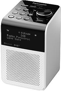 panasonic rf d20bt compact splash proof radio with dab and bluetooth white - Bathroom Radio