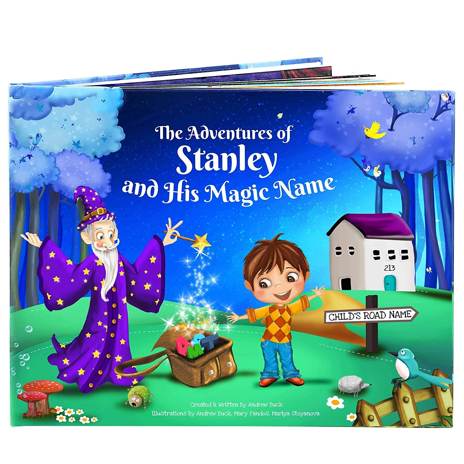 Grandson Granddaughter Gift Book - A Personalised Children's Story Book - Handmade - Unique Story for Every Child's Name