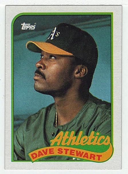 Amazoncom Dave Stewart Baseball Card 1989 Topps 145 Nmm