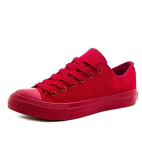 5ecc236131c1 Klassische Unisex Damen Herren Schuhe Low High Top Sneaker Turnschuhe Rot 36