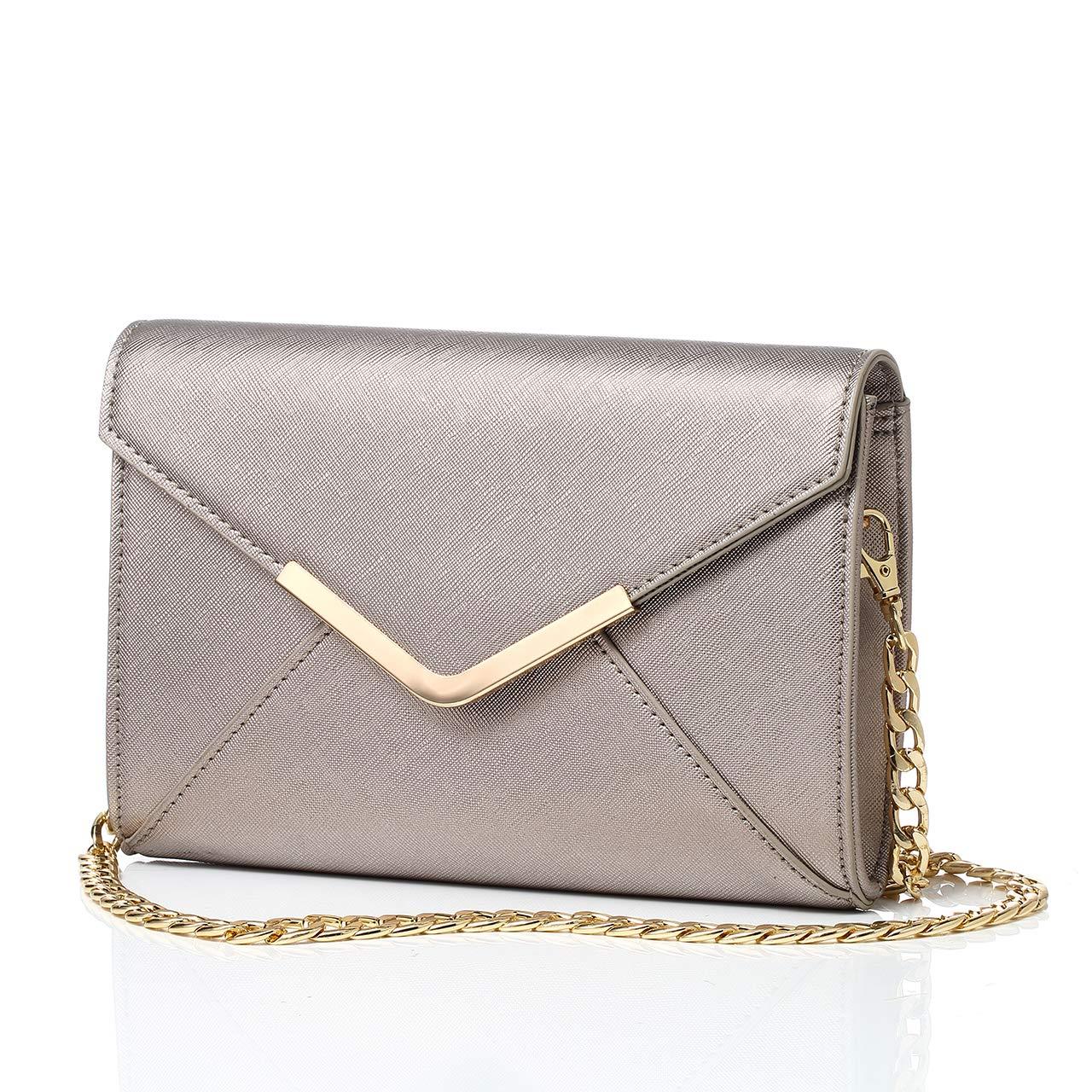 3dac42f35eb DeDe Diva Women's Clutch Bag, Envelope Evening Bag Clutch Purse for Women,  Crossbody Shoulder Bag Handbags for Party Wedding