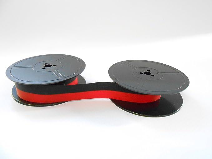 Cinta de color negro/rojo - para la fábrica de Olympia Traveller de Luxe Nylon-Farbband Original: Amazon.es: Oficina y papelería