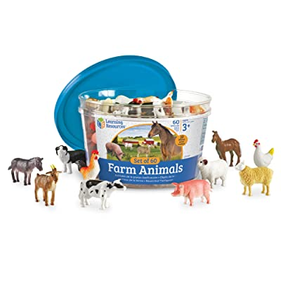 Learning Resources Farm Animal Counters, 10 Different Animals, Set of 60, Ages 3+: Toys & Games