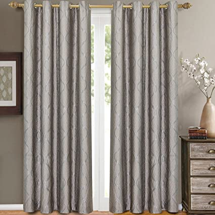 Amazon Com Pair Of Two Top Grommet Curtain Panels A Meek Elegant