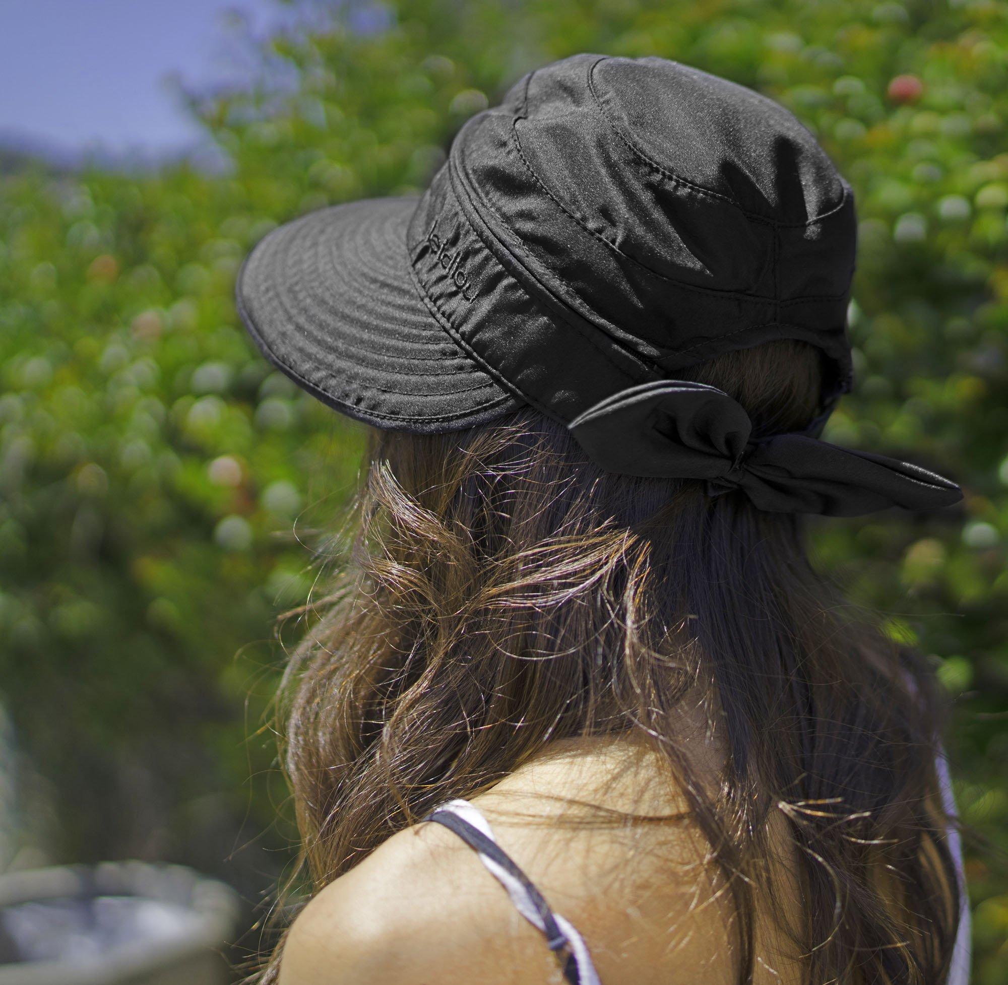 c15ad708d Details about Simplicity Women's UPF 50+ UV Sun Protective Convertible  Beach Hat Visor Black