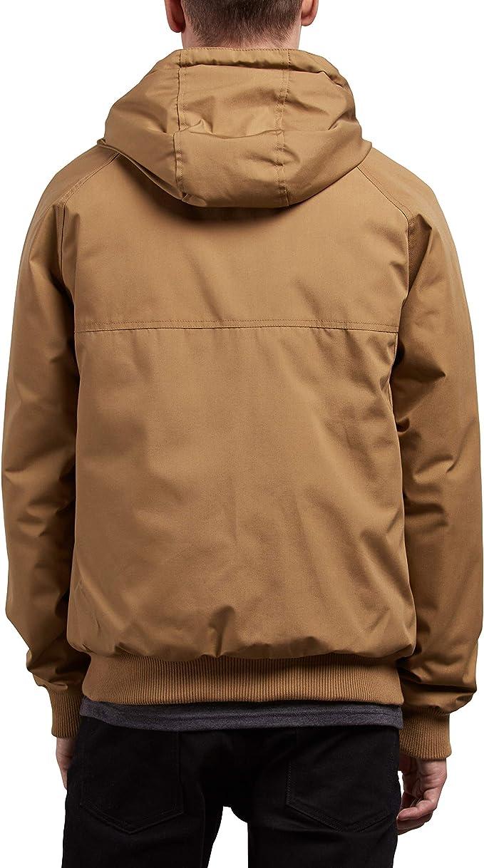 Volcom Herren Mens Hernan Heavy Weight Hooded Jacket Button Down Hemd
