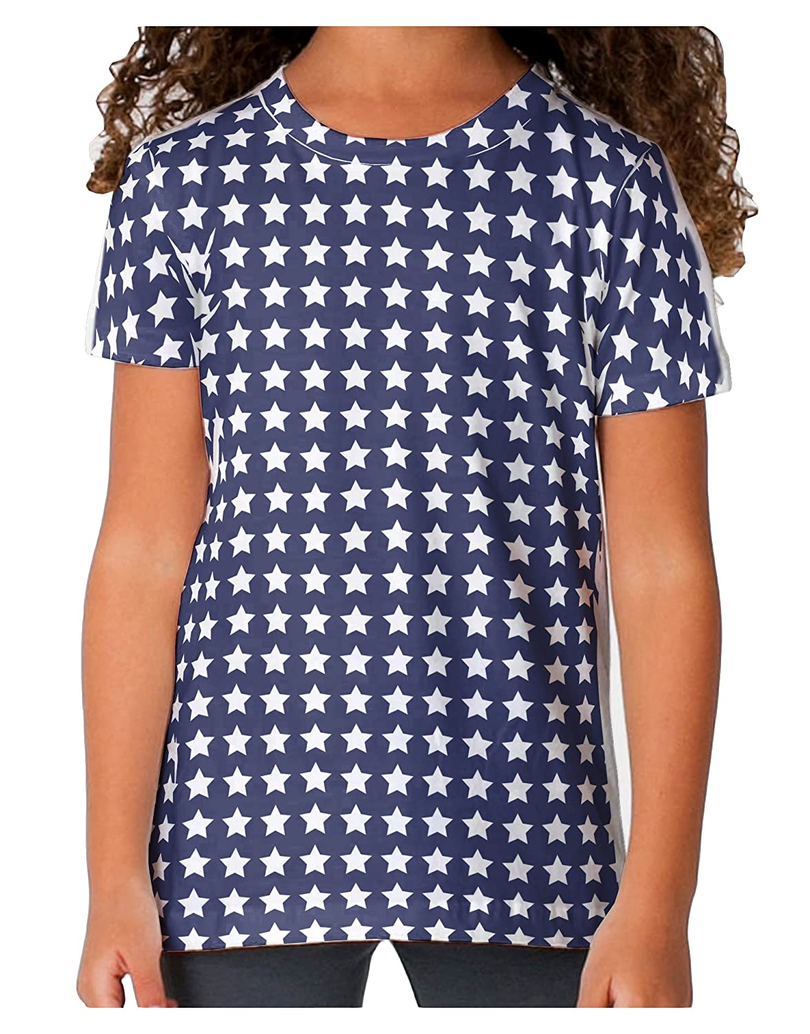 TooLoud Americana Stars Pattern Toddler T-Shirt Single Side All Over Print