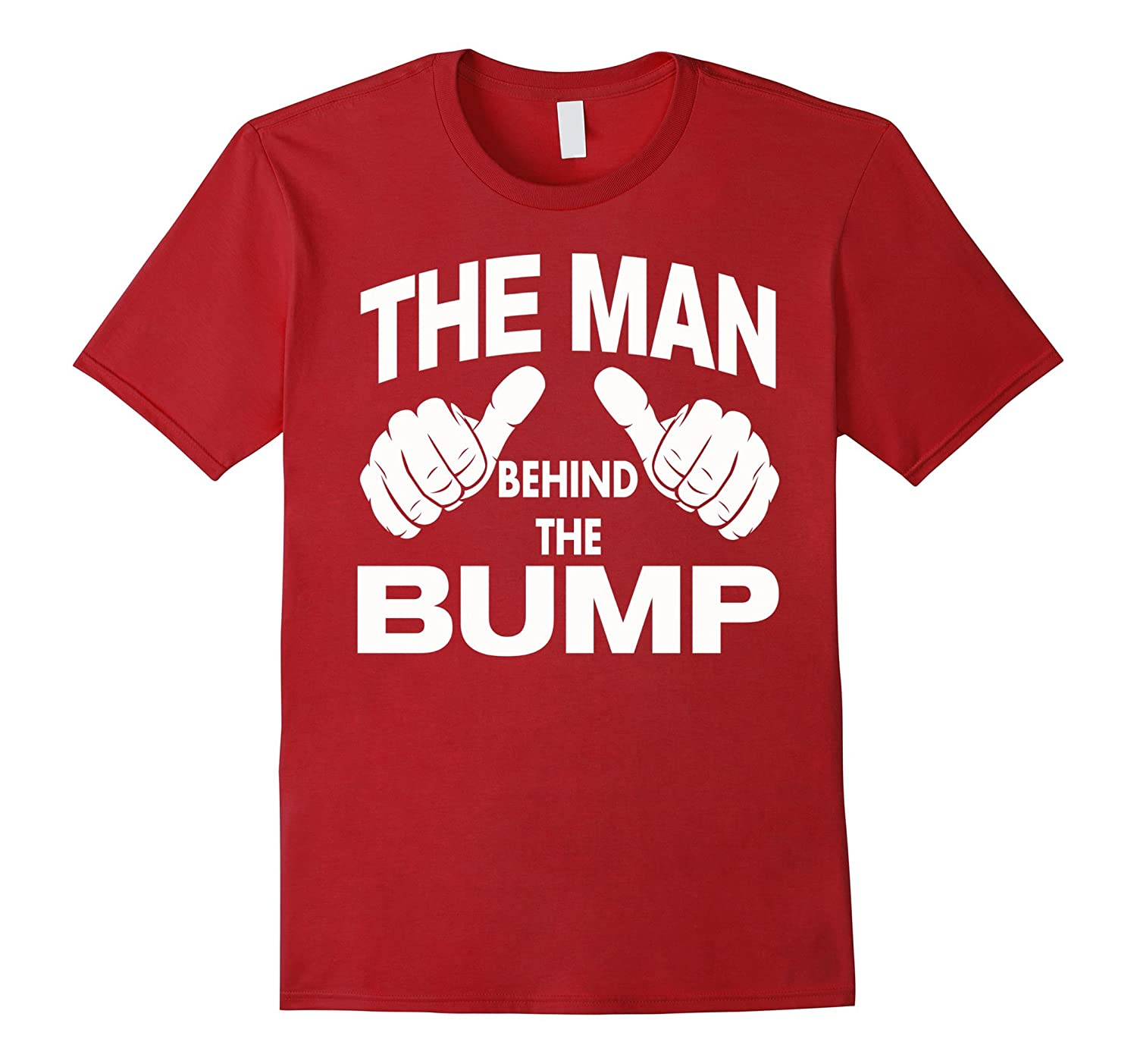 Father/'s Day The Man behind the Bump White Adult T-Shirt