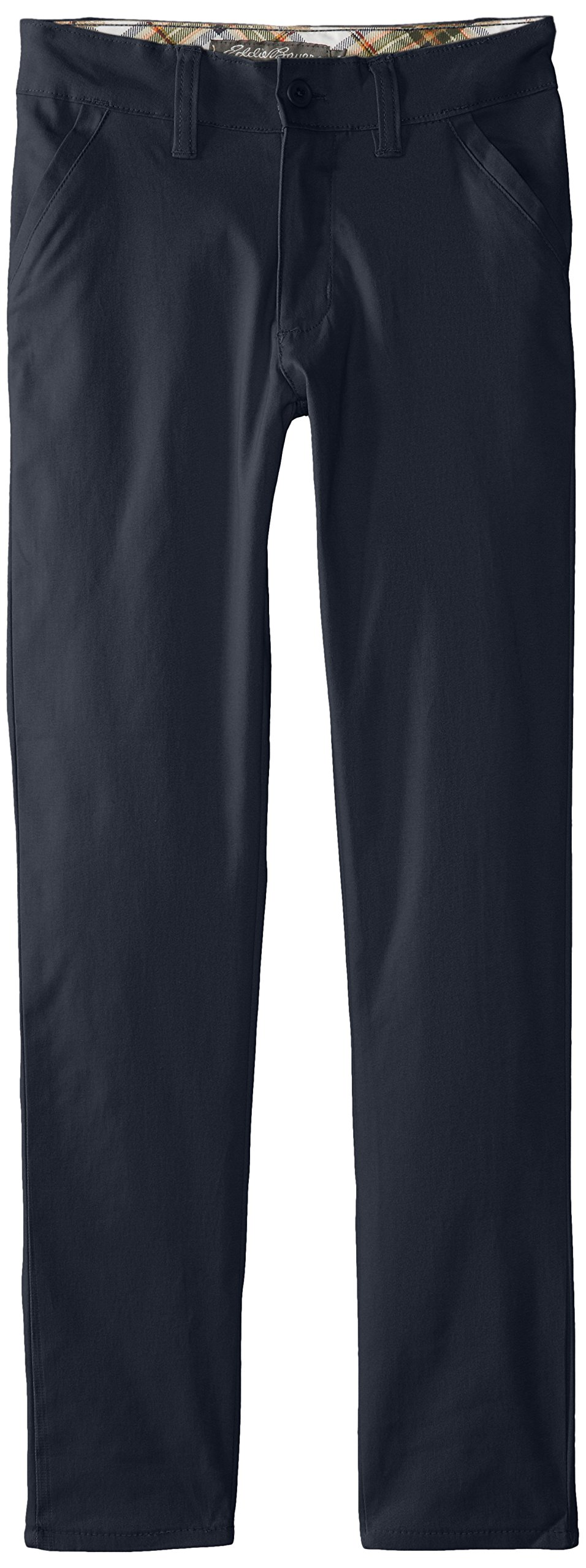 Eddie Bauer Girls' Twill Pant (More Styles Available), Soft Navy, 12
