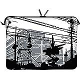 Digittrade LS124-11 CityLife Designer Schutzhülle für Laptops und Netbooks mit einer Bildschirmdiagonale von 29,5 cm (11,6 Zoll) weiß-schwarz