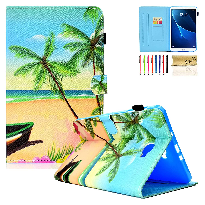 豪華で新しい Casii Samsung Galaxy Tab A D-Beach 10.1ケース B07KSSSB2B レザー 軽量 保護 PUレザー フォリオ スリム フリップ レザー スタンドカバー 自動スリープ/ウェイク機能付き Samsung 10.1インチ SM-T580/T585タブレット用 (Sペンなし) D-Beach B07KSSSB2B, BIGG WILLIE:cc1a8569 --- a0267596.xsph.ru