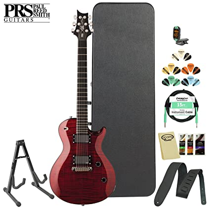 PRS SE Nick Catanese (ncsr) Kit de guitarra eléctrica en color rojo con sintonizador