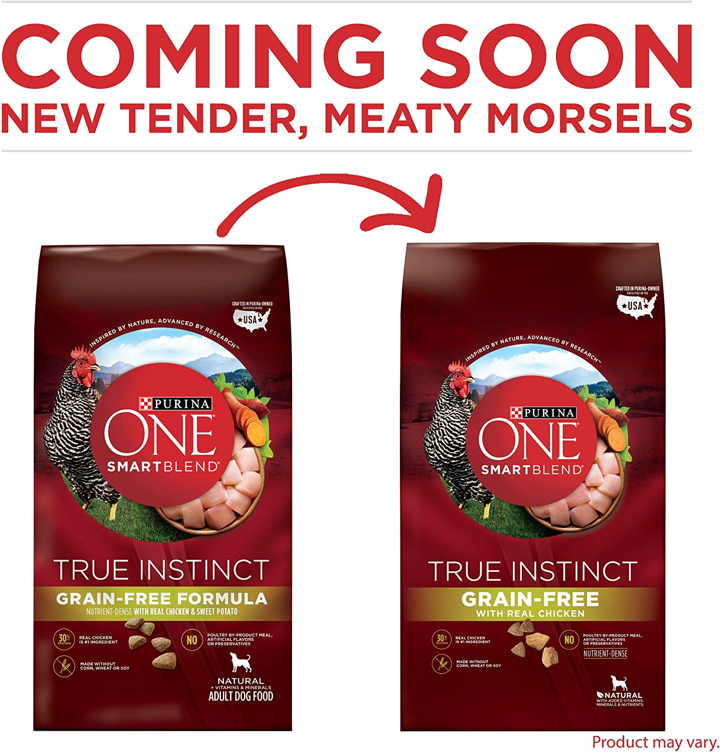 Purina ONE SmartBlend True Instinct Natural Grain-Free Formula Adult Dry Dog Food