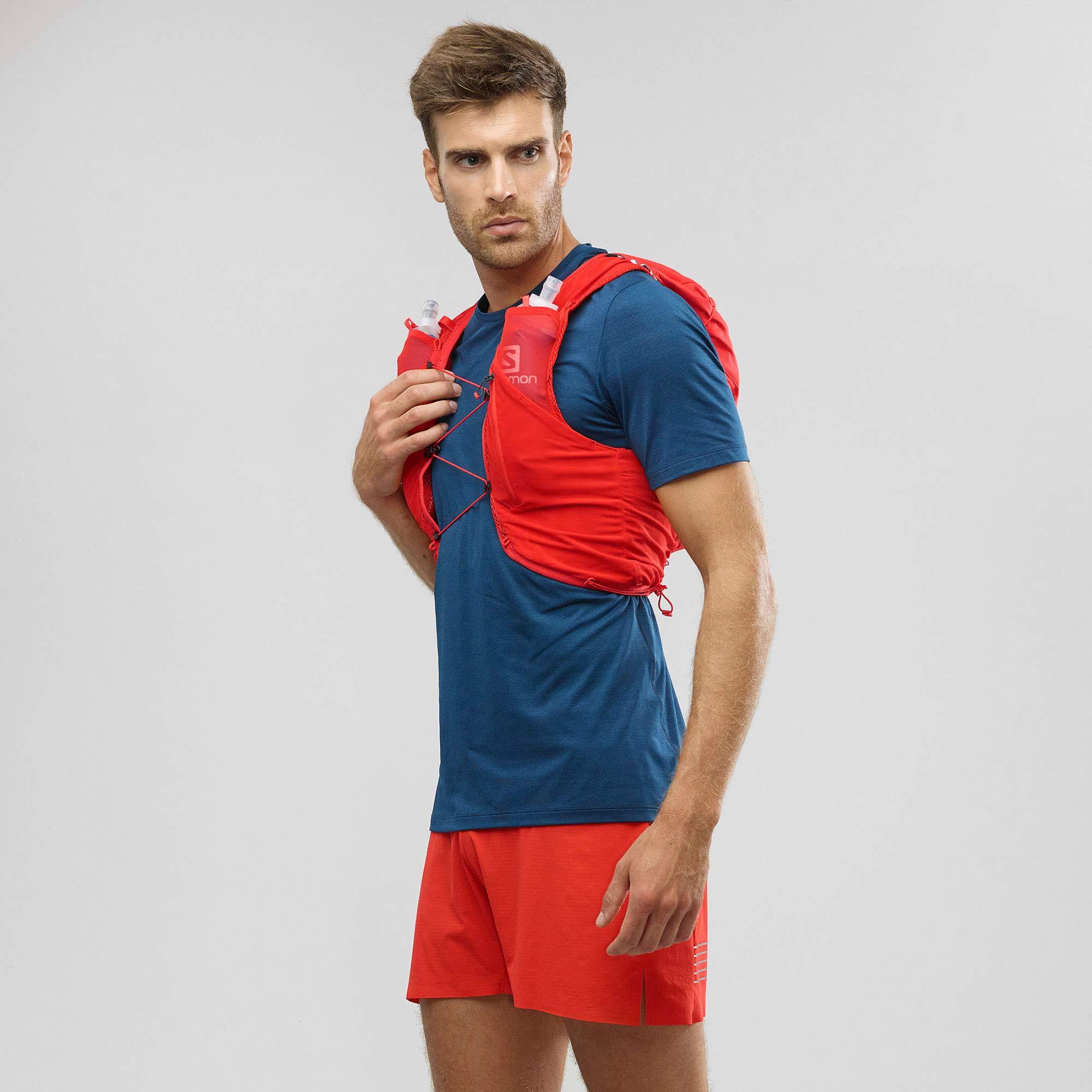 Salomon Mens Advanced Skin 12 Set Running Vest, Fiery Red, X-Large by Salomon (Image #2)