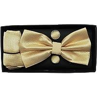Luxeis Men Bow Tie, Cufflink, Pocket Square Gift Set