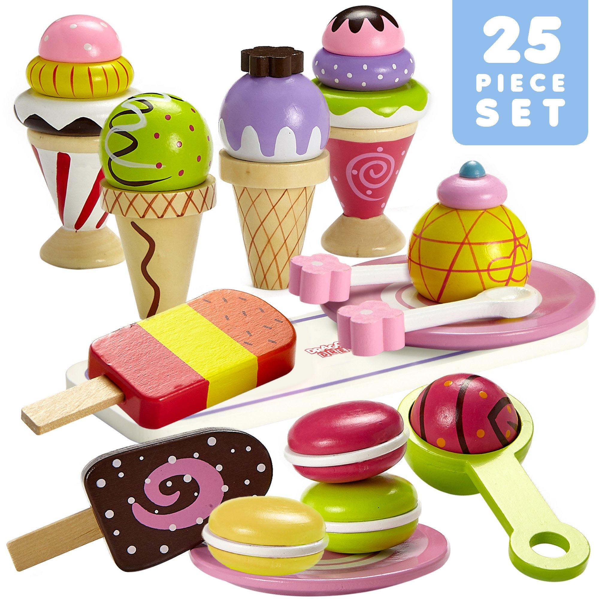 Dragon Drew Ice Cream Toy - Pretend Ice Cream Set - Ice Cream Set for Kids (25 PC Set)