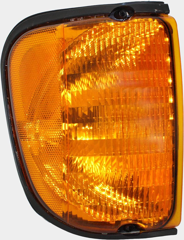 E-350 Super Duty//E-450 Super Duty Plastic Amber Lens Driver and Passenger Side E-250 Corner Light Set of 2 Compatible with 2003-2007 Ford E-150